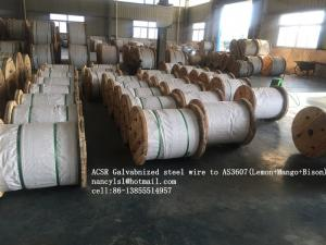 China ACSR Galvanized Wire Cable AS3606 BS 4565 , 0.5-5.0mm Gauge Steel Core Wire on sale