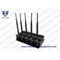 China Black Cell Phone Frequency Jammer , Mobile 3G Signal Jammer Stable Operation on sale
