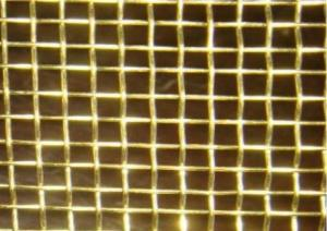 China Phosphor Bronze Decorative Brass Mesh  4 X 4 For Cabinet Screens / Filtration on sale