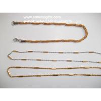 China Steel two tone mesh chain bracelet and necklace jewelry set on sale