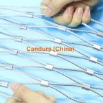 7X7 maille flexible de câble métallique d'acier inoxydable de la maille 60mm de la corde 1.5mm