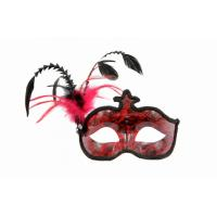 Customized Christmas Ornament Face Mask , Charm Venetian Mask