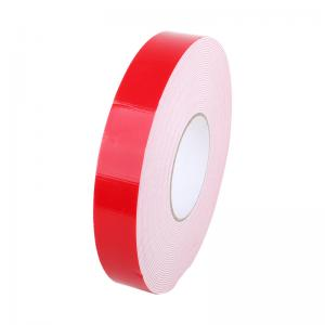 China Automotive PE Foam Tape , Anti Water Red Double Sided Tape For Car Signage on sale