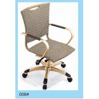China 2014 office armchair/ rattan swivel chair/ wicker metal turning chair on sale