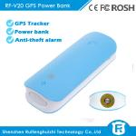 China Long standby time gps anti-lost device tracker with 4500mah power bank and door burglar al wholesale