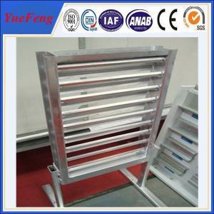 China powder coating aluminium slide extruding profiles/ glass louver aluminum alloy frame on sale