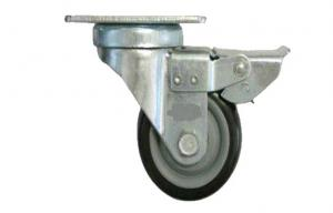 China Medium Duty industrial fixed Swivel Caster Wheels 4 inch Top plate on sale