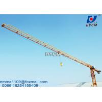 China PT6013 Flattop Tower Crane Fixing Hydraulic Climbing Type 148ft Height on sale
