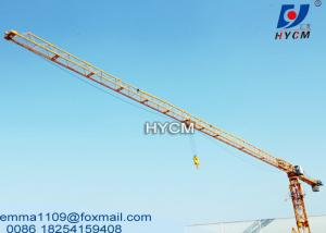 China QTP6016 Tower Craines Price 60m Boom 10t Load Lift Building Material on sale
