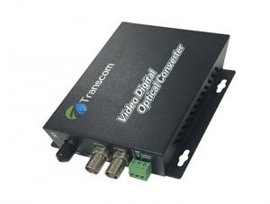 China Single Mode 2 Channel Video Multiplexer , Video Audio Data Fiber Media Converter on sale
