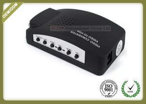 China AV TO VGA Fiber Optic Media Converter Plug And Play Video To VGA Converter on sale