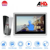 New arrival 10 inch touch screen wired doorbell system video door phone intercom for villa