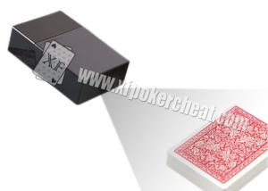 China Invisible Playing Cards Poker Scanner Black Plastic Cigarette Box Camera on sale