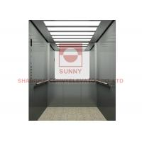 China VVVF Control 450Kg Stainless Steel Mirror Hospital Elevator With LED Light on sale