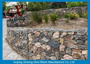 China Hexagonal / Square Hole Shape Gabion Wire Mesh / Gabion Reno Mattress on sale