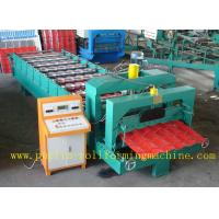 Hydraulic Glazed Tile Roll Forming Machine / Durable Rolling Form Equipment