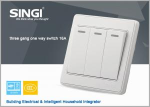 China 3 gang 16a/10a High Quality Electric Switch,Z-Wave Wall Switch For Home Automation on sale