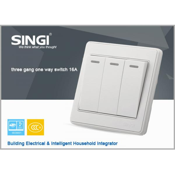 3 gang 16a/10a High Quality Electric Switch,Z-Wave Wall Switch For ...