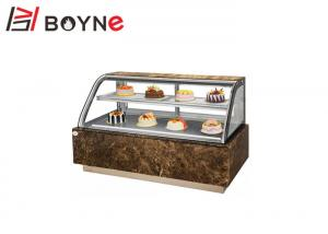 China Countertop Glass Cake Showcase Chiller , 2Layer Cake Arc Shape Shop Display Counters on sale