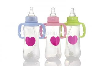 China Food Grade PP Bottles For Babies with Handle in Regular Neck , Arc Shape Baby Feeder on sale