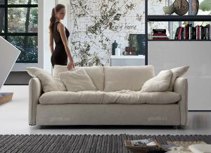 Quality White Fabric Modern Sofas With Solid Wood Frame Soft Seat Sofa Set