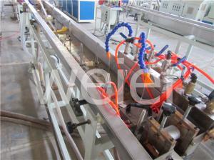 China Maquinaria plástica da extrusão do único parafuso da precisão para a faixa da borda da impressão a cores do pvc três on sale