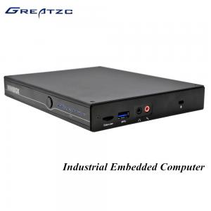 China DP Intel I5 5200U HD 5500 GPU Industrial Fanless Embedded PC RS232 COM DC 19V on sale