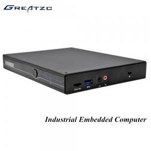 China DP Intel I5 5200U HD 5500 GPU Industrial Fanless Embedded PC RS232 COM DC 19V on sale