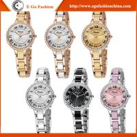KM18 Fashion Jewelry Wholesale Stainless Steel Luxury Woman Watch Rhinestone Gift Watches