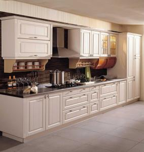 China PVC Film Thermofoil Kitchen Cabinet Door on sale