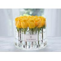 China Factory Sell Full Size Customization High Quality Round Acrylic Box Flower on sale
