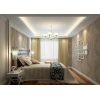 Modern Style Washable Vinyl Wallpaper , Vinyl Wall Coverings with Golden Leaf Pattern