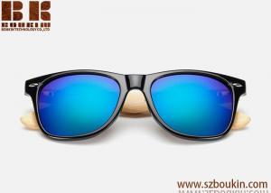 China 2018 hot sell wood sunglasses look acetate sunglasses Women Brand Design Sport Goggles Gold Mirror Sun Glasses on sale
