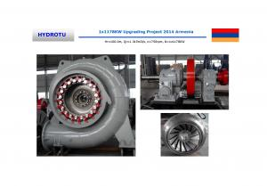 China High Efficiency Four Fulcrum Francis Hydro Turbine 1200 KW with Horizontal Shaft coupling on sale