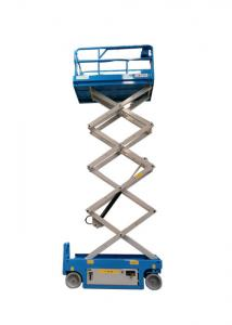 China AWP Hydraulic Lift Table , Aerial Work Platform Anti Slipping Four Wheels on sale