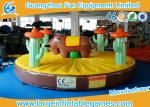 0.55mm PVC Tarpaulin Inflatable Sport Games , 5*5m Inflatable Rodeo Bull