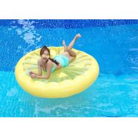 Yellow Lemon Swimming Pool Floats , Round Inflatable Water Rafts Toys 160*160cm