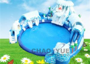 China Commercial PVC Snow World Inflatable Floating Water Park CE Blower 18 OZ on sale