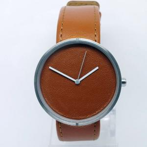 China Fashion design and color watch Stainless steel case with geniune leather strap watch on sale
