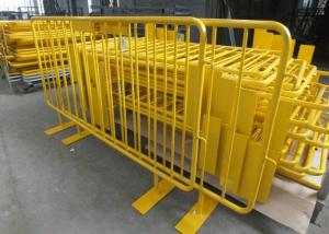 China Retractable Steel Barricades Crowd Control / Metal Pedestrian Barriers For Road Safe on sale