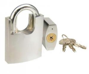 China Heavy Weight Iron High Security Padlock With Three Cross Key White Color on sale