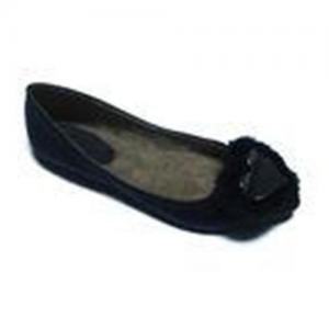 China 2012 2cm Heels Size 36-41 Black PU Female Comfy Ballet Flat Shoes on sale