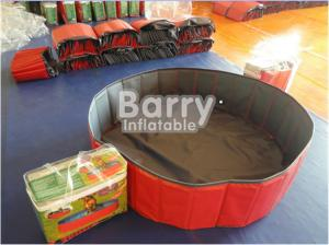 Red PVC Foldable Dog Pet Inflatable Swimming Pool Customized Size ...