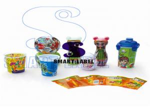 China Clear OPS / PVC Heat Shrink Sleeve Tamper Seal Labels for Toys Package 6 Colors on sale