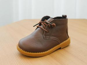 China baby boots leather boots winter warm outside snowing walking shoes soft sole on sale