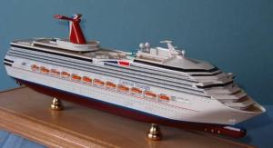 China Triumph Carnival Cruise Ship Models Stimulation Technological Effect For Home on sale