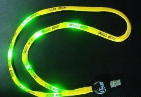 China lanyard/ LED flashing lanyard on sale