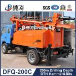 China 200m water well drilling rigs DFQ-200C Multi-Function Widely Used Truck Mounted Drill rig wholesale