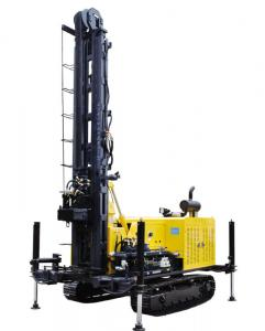 China 100m Depth Water Well Drilling Rig , Geothermal Drilling Rig Kw10 on sale
