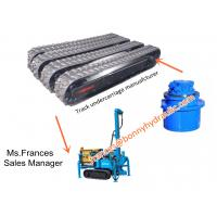 Rubber crawler undercarriage (drilling rig rubber tracks)
